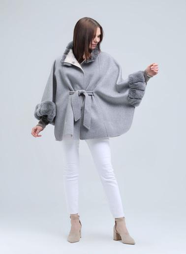 Silk and Cashmere Pelerin Gri
